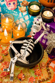 Mexican day of the dead offering (Dia de Muertos) — Stockfoto