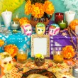 Day of the dead altar (Dia de Muertos) — Stock Photo