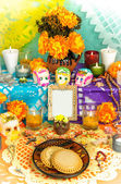 Day of the dead altar (Dia de Muertos) — Foto Stock