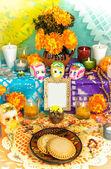 Day of the dead altar (Dia de Muertos) — Stock Photo