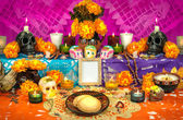 Mexican day of the dead altar (Dia de Muertos) — Stockfoto