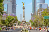 Sunday bikers in Paseo de la Reforma, Mexico — Stock Photo