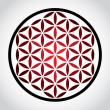 Flower of life symbol - Stock Photo