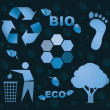Bio eco icon symbols — Stock Photo