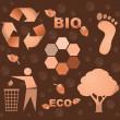Bio eco icon symbols — Stock Photo
