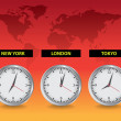 Worldwide clocks - Stock Photo