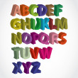 Hand lettered color alphabet - Stock Photo
