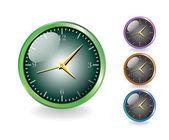 Glanzende metalen klokken — Stockfoto