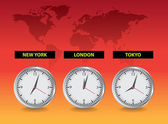 Worldwide clocks — Stock Photo