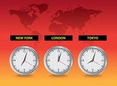 Worldwide clocks — Stock Photo