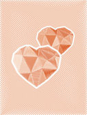 Diamond hearts sketch — Stock Photo