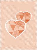 Schizzo di cuori di diamante — Foto Stock