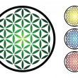 Set of flower of life symbol — Stock Photo