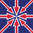 Abstract UK flag — Stock Photo