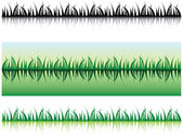 Grass with shadow — Stock Photo