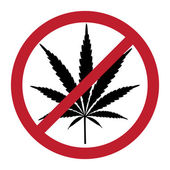 No cannabis — Stock Photo