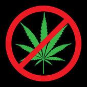 No cannabis — Stockfoto