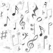 Background created from music notes — Stock Photo