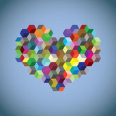 Abstract heart symbol — Vector de stock