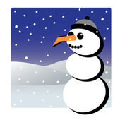Snowman winter christmas theme — Stock Vector