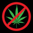 No cannabis, drugs free — Stock Photo #18496817