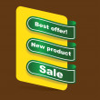 Set of papper tags for offer — Stock Photo #18497017