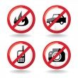 not allowed symbols — Stock Photo