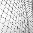 Stock Photo: Wired fence in perspective