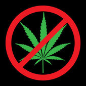 No cannabis, drugs free — Stock Photo