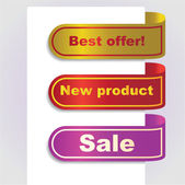Set of papper tags for offer — Stock Photo