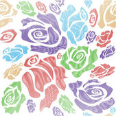 Rose flower pattern — Stock Photo