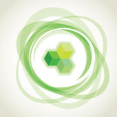 Abstract green opacity rings — Stock Photo