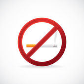 No smoking stop sign symbol — Stock Photo