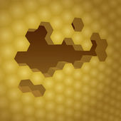 3d honeycomb — Stock Photo
