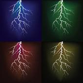 Lighting flash on the dark sky — Stock Photo