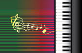 Piano roll and music notes — Stock Photo