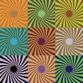 Set of abstract suns, illustration — Stock Photo