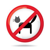 No cats sign — Foto Stock