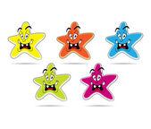 Set of cartoon stars — Foto de Stock