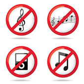 "Set of ""not allowed music"" — Stock Photo"