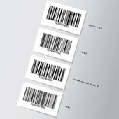 Barcode stickers — Stock Photo