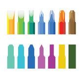 Bits de chave de parafusos de cor — Fotografia Stock