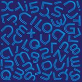 Futuristic color alphabet — Stock Photo