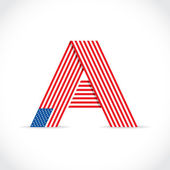"""""""A"""" as a symbol of america — Stock Photo"""