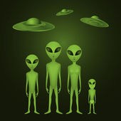 Whole alien family — Stock Photo