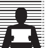 Criminal record silhouette — Stock Photo