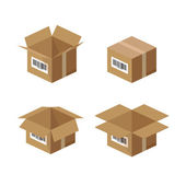 Carton paper box — Stock Photo