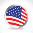 usa flag button — Stock Photo