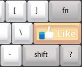 Like on keyboard — Stock Photo