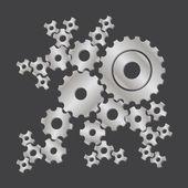 Set di ruote in acciaio — Foto Stock